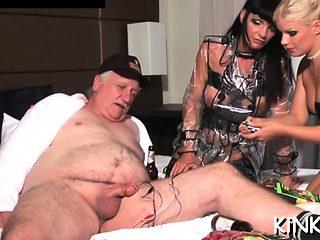 Swingeing girlfriend adores erected meat member