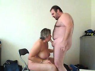 Mature amateur couple fucking on webcam