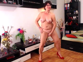 Hot mature cam private strip