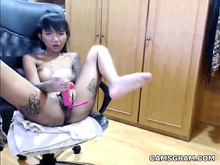 Sweet Asian Plays With Her Pussy And Squirts Hard