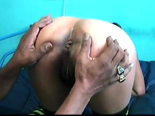 Showing her anus 02