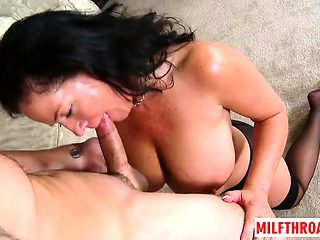Hot mature titty fuck and cumshot