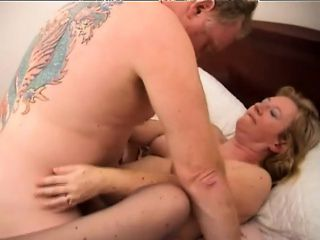 Horny blonde granny with a lovely ass gets her needy cunt banged deep