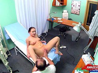 Hot nurse sex and creampie