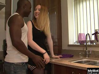 Intriguing white chick called Ruby can't wait to taste the black dick