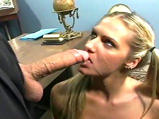 Ashley Long Opens her Mouth Wide For Big Cock Jizz Load