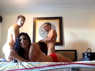 Amateur reality gangbang in porn cinema