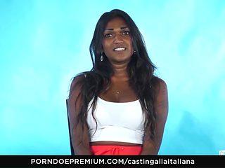 CASTING ALLA ITALIANA - Indian babe naughty interview