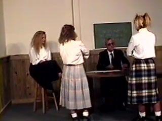 He spanks three girls
