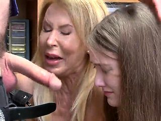 Brunette caught cheating first time Both grandmother and sus