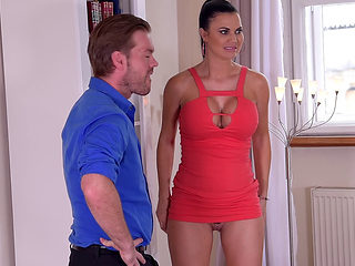 British Hottie Jasmine Jae Swallows Dick!