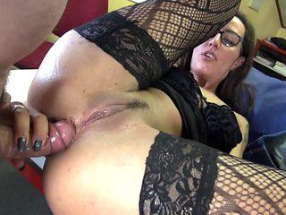 Sexy Anal Moaning Boss Milf