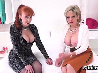 Cheating british milf lady sonia showcases her monste15xtk