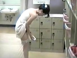Japanese ladys changing in public bath