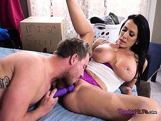 Busty Cougar Reagan Foxx Plays With Pool Boys Dong