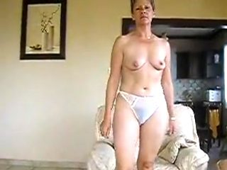 french housewife gets naked, spreads widely then masturbates
