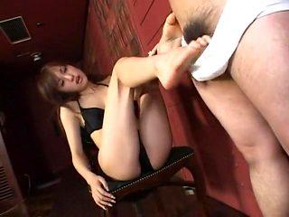 Amazing Japanese whore Arisa Kanno in Hottest Foot Job, Femdom JAV video