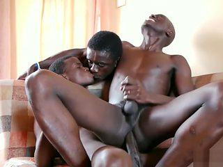 Black African Twink Raw Threesome