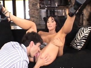 Delightful wife goes for a wild session of hard sex with a young stud