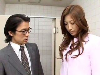 Amazing Japanese girl Leila Aisaki in Horny Voyeur, Handjobs JAV movie