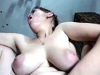 Big boobs slut creampie