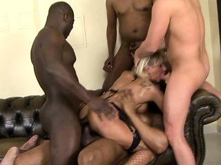 MILF Cathy Inez black cock anal