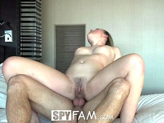 SpyFam Step Sister Blonde Alyssa Cole Begs For Aggressive Fuck