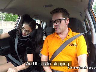 Teen Driving Student Rides Big Dick