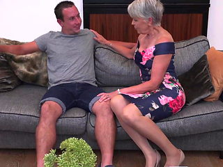 Sexy granny gets taboo sex from boy