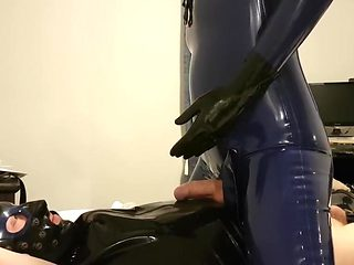 In latex  riding a rubber sub