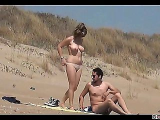 Couple Split By Strangers On A Nude Beach