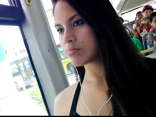 Home  cute girl in the bus
