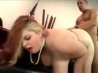 Big Natural Boobed Secretary Gets Pumped By Gifted Black