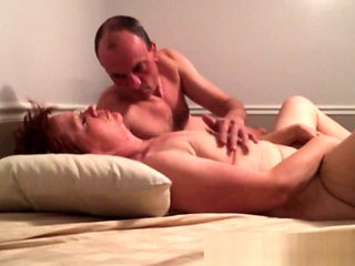 Home video of mature couple banging in their bedroom