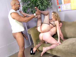 Black Cock Slut Allie James Humiliates A Lame Cuckold