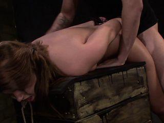 Petite babe with nice titties Kayleigh Nichole enjoys a rough fucking