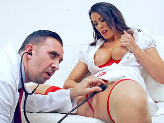 Naughtiest nurse Reagan Foxx intensely fucked by the doctor