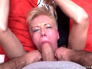 Blonde stunner is horny as hell and fucks with wild passion in this anal action