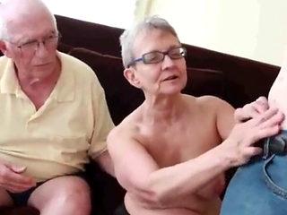 Granny Amature Sucks Grandpa While Sucking&fucking Her Boytoy