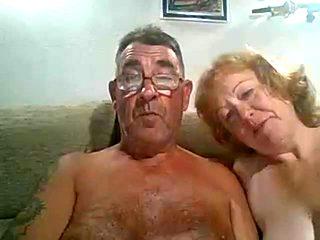 Older man cums on wife