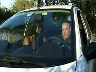 Black Prostitute - BlowJob In The Car