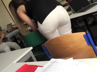 Student films his colleague ass in class