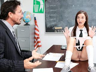 InnocentHigh - Cute Schoolgirl Jade Amber Fucked By Huge Coc