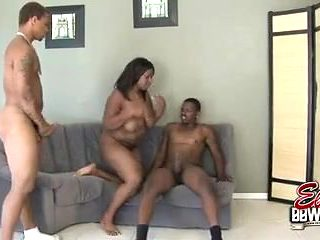 Sizzling 3some With BBW Skyy Black