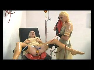 The RC - Doule Balloon insertion, transparent enemas