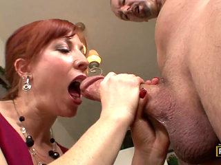 Hot Redhead Milf Loves Big Dick