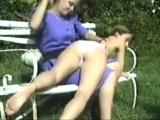outside spanking wedgies