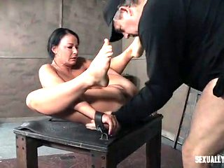 Slave girl bent like a pretzel and fucked passionately