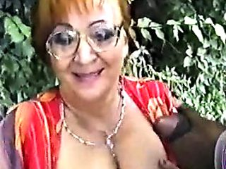 HUNGARIAN granny split up WITH A large dusky manmeat WITHIN