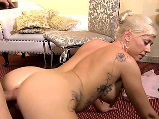 Big tits pornstar anal and cum on ass